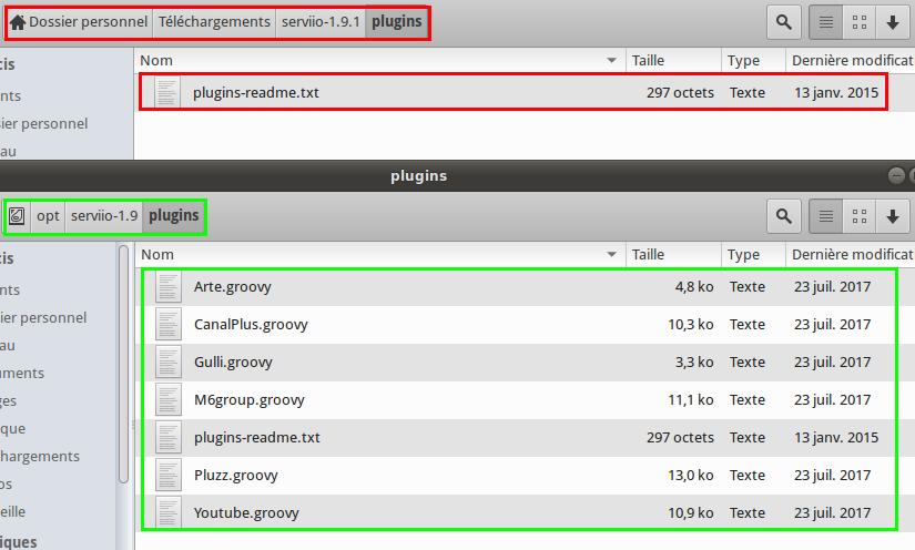 Comparaison-Plugins-Serviio-1-9 et 1-9-1