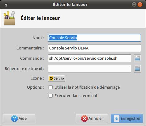 Details-Lanceur-Serviio-Console